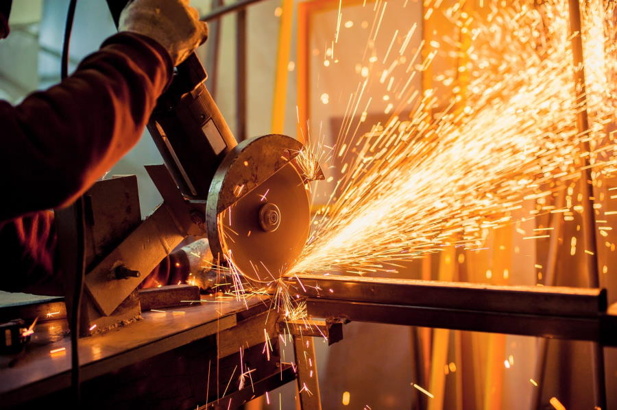 electric grinder structural steel g and g