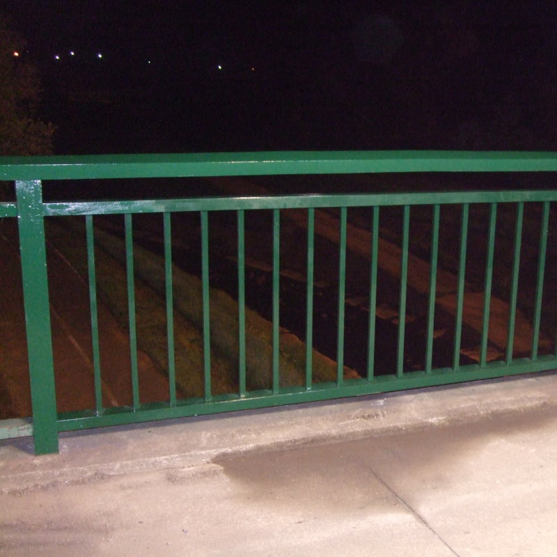 Over Railway Bridge Replaced Barrier Rail
